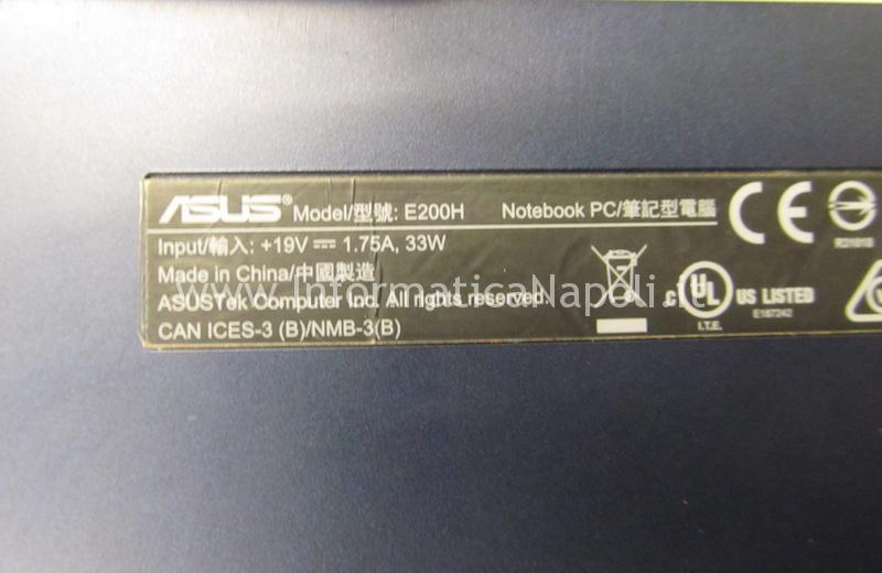 assistenza Asus VivoBook E200H riparato