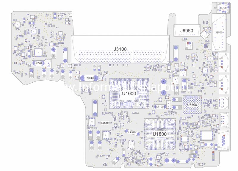 riparazione scheda logica MacBook Pro 13 A1278 820-3115-B 820-2936-B 2011 rallenta e va a scatti se alimentato solo a batteria PBUS VOLTAGE SENSE