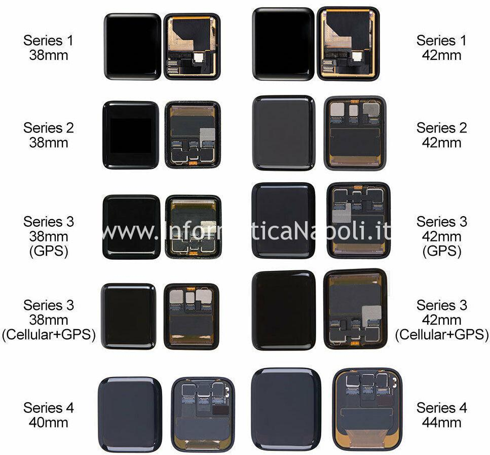 tipi display Apple watch Serie 1 | 2 | 3 | 4 | 38mm 40mm 42mm 44mm GPS Cellular