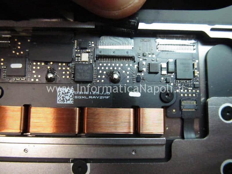 assistenza riparazione tastiera danneggiata apple MacBook retina 12 A1534 2015 2016 2017