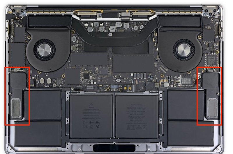 sostituzione speaker casse apple macbook pro 15 a1990