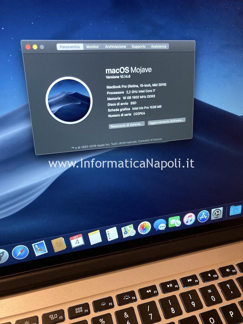 installazione sistema operativo su disco Crucial P1 NVMe m.2 2280 Upgrade SSD macbook pro 15 a1398 disco nvme non apple