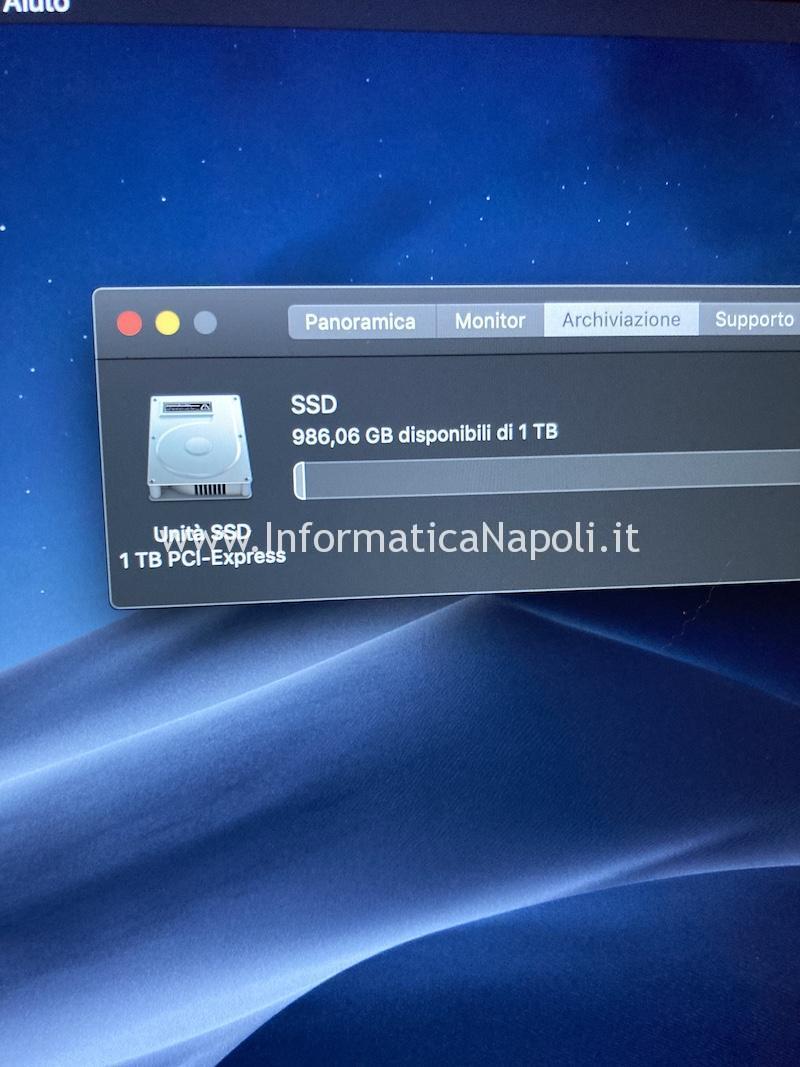 Upgrade SSD macbook pro 15 a1398 disco nvme non apple