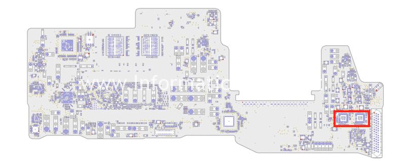 sostituzione chip IC UPC Port Controller CD3215C00 CD3215B03 riparazione MacBook pro 13 15 A1706 | A1707 | A1708