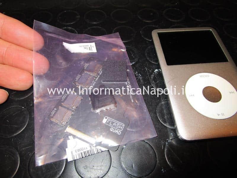 assistenza aggiornamento Upgrade SSD disco apple ipod classic 160 gb 1tb