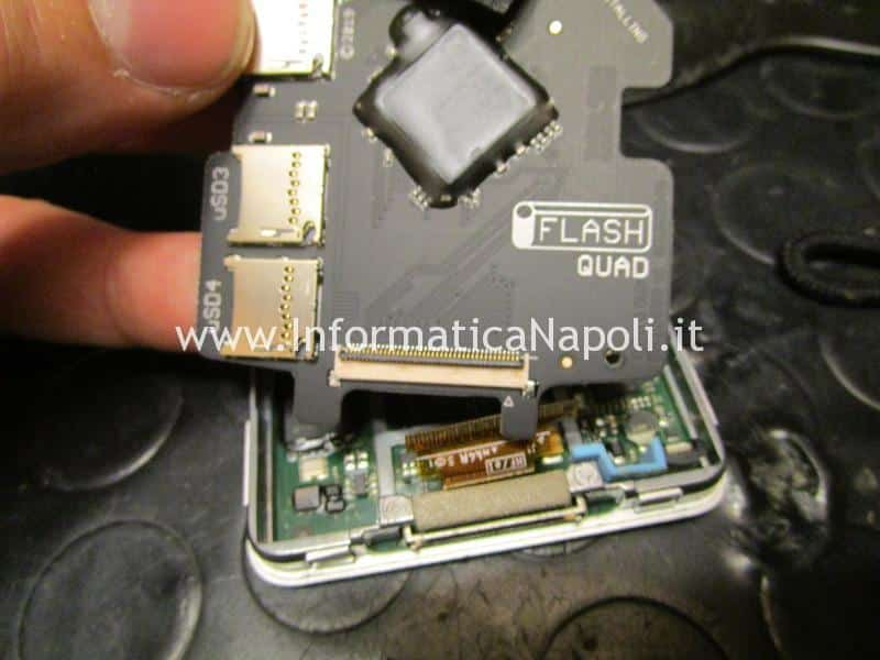 assistenza sostituzione disco apple ipod classic adattatore iflash 1tb 256gb 128gb 160gb