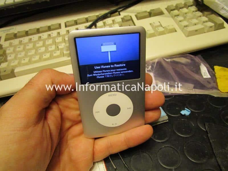 assistenza sostituzione disco apple ipod classic adattatore iflash 1tb 256gb 128gb 160gb ripristinato