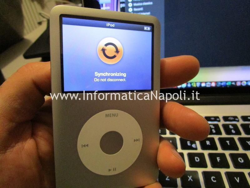 ipod ripristinato disco sostituito funzionante