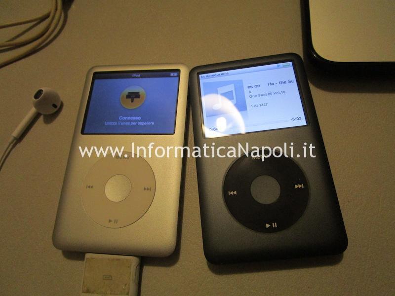assistenza ipod ripristinato disco sostituito funzionante