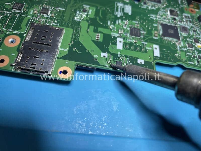 schema elettrico riparazione schermo nero lenovo Thinkpad T490s scheda madre NM-B891