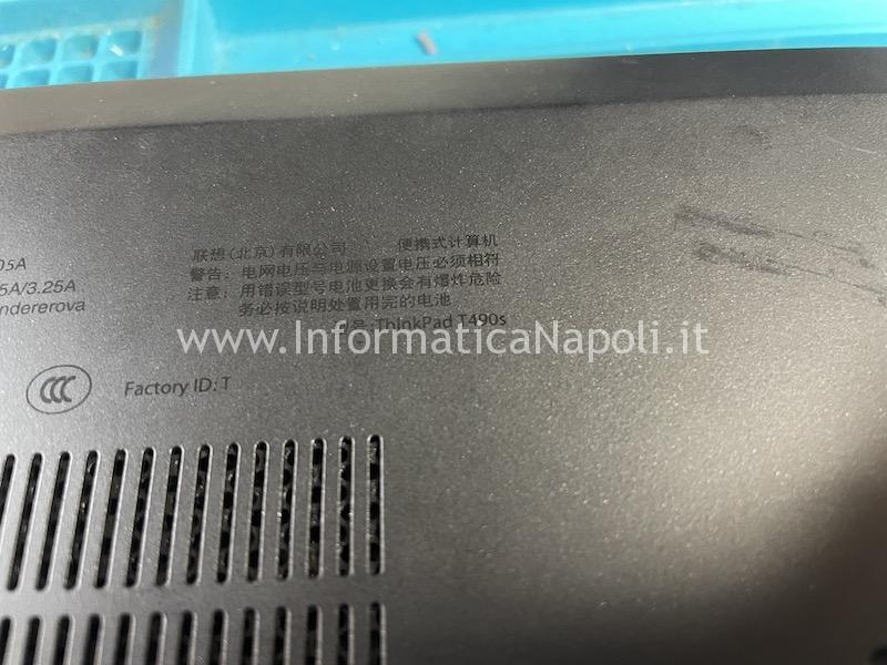 schermo buio nero backlight lenovo Thinkpad T490s scheda madre NM-B891