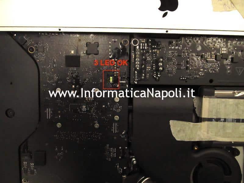 assistenza iMac a1418 21.5 scheda logica 820-00430-A 3 led