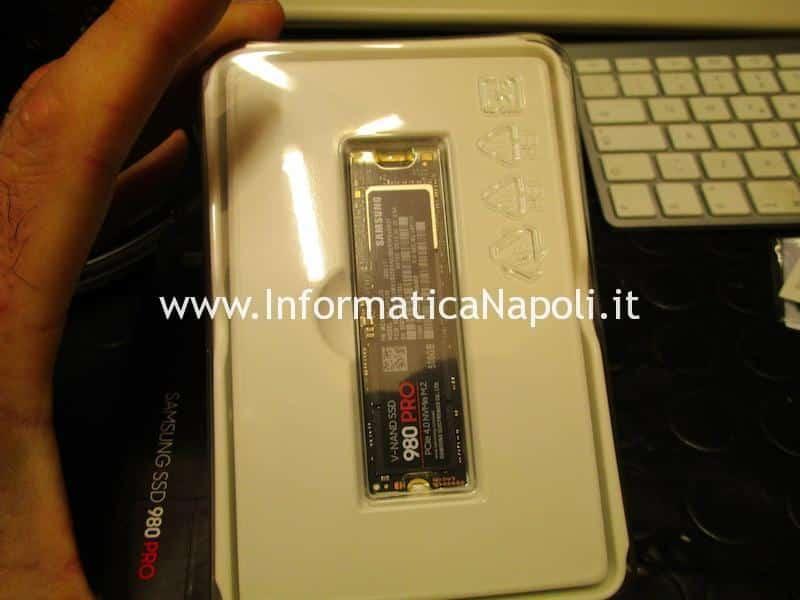 installare Samsung 980 pro PCIe 4.0 NVMe M.2 su Mac Pro 2013 | assistenza Apple