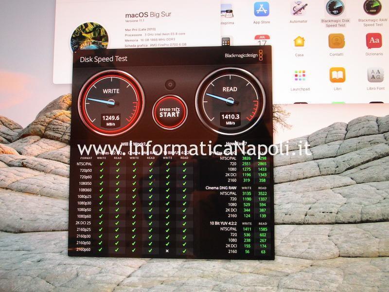 test velocità ssd Apple Mac Pro late 2013 A1481 | assistenza Apple