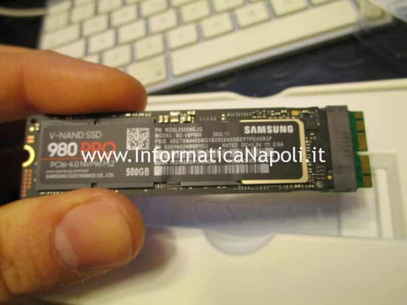installazione Samsung 980 pro PCIe 4.0 NVMe M.2 su Mac Pro 2013 | assistenza Apple