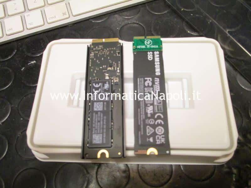 confronto dischi ssd nvme m.2 su Mac Pro 2013 cilindro | assistenza Apple