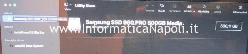 installare big sur disco SSD 1TB NVME m.2 su Apple Mac Pro late 2013 A1481 | assistenza Apple