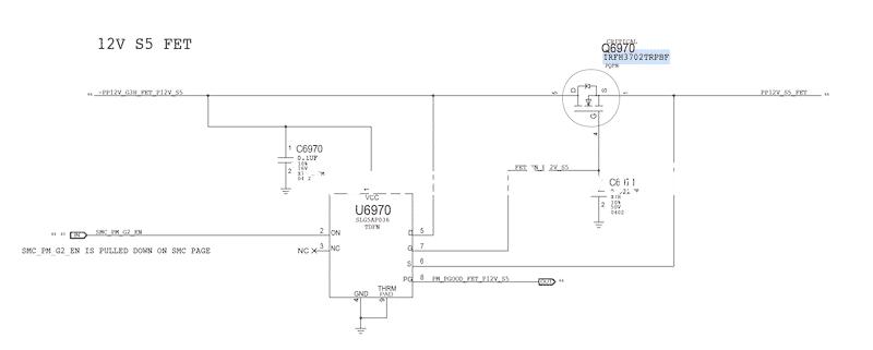 problema imac 21.5 a1418 2015 non si accende o si spegne IRFH3702TRPBF SLG5AP036