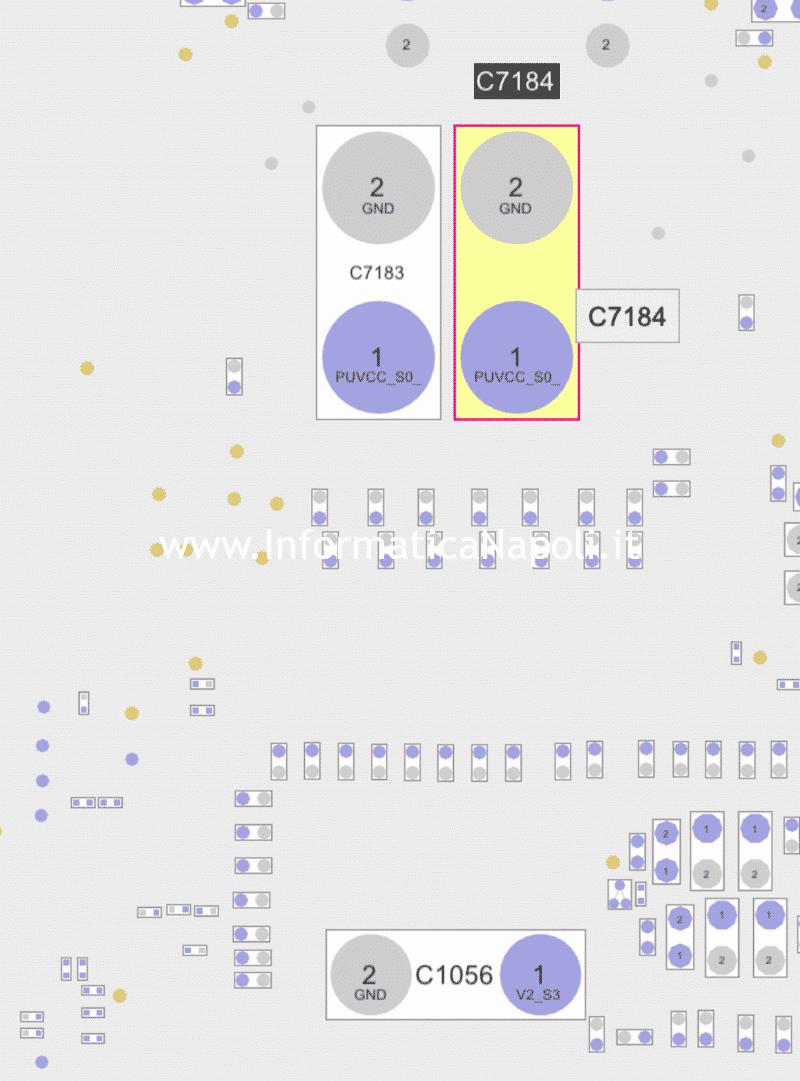 come riparare scheda logica iMac a1418 21.5 sostituzione condensatori