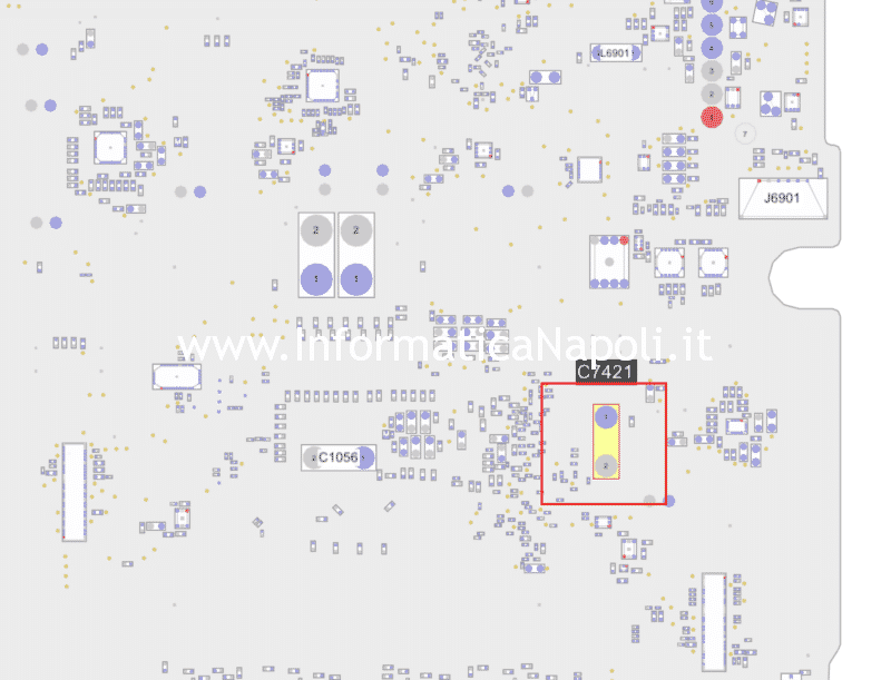 assistenza riparazione scheda logica iMac a1418 21.5 sostituzione condensatori