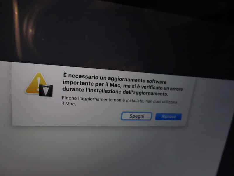MacBook pro bloccato dopo aggiornamento Big Sur!