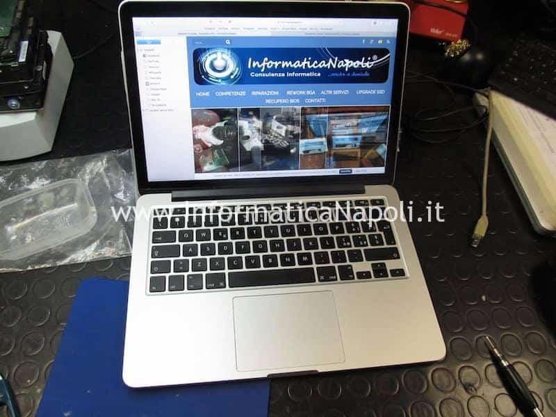 problema schermo nero macbook pro 13 2012 2013 2014 2015 cambiato cavo video