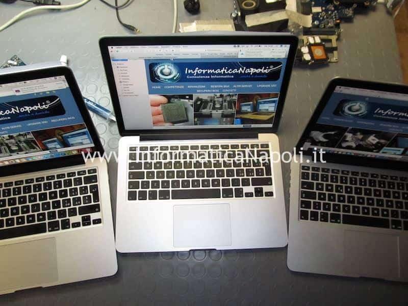 assistenza apple problema schermo nero macbook pro 13 2012 2013 2014 2015 cambiato cavo video
