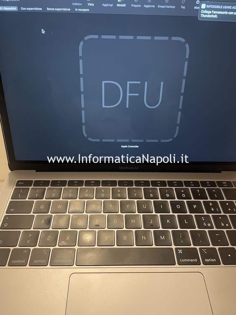 Problemi accensione Macbook pro 13 15 16 schermata nera dopo aggiornamento big sur