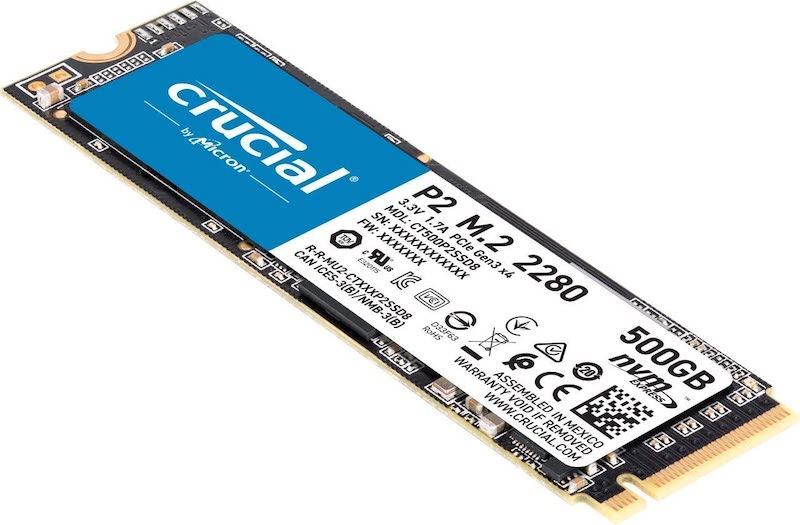 Il Crucial P2 M.2 in formato 2280 upgrade macbook pro 13 a1708