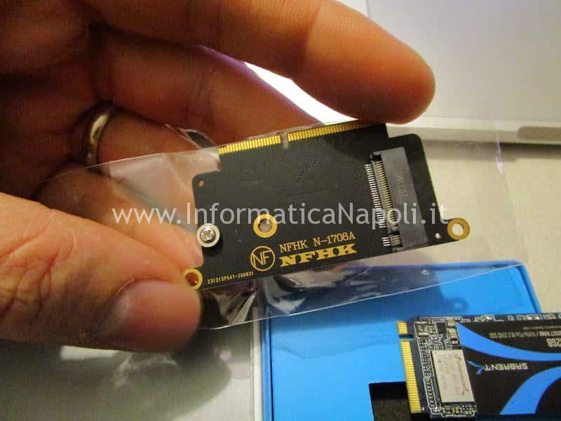 adattatore NVMe PCIe m.2 Sabrent da 512GB Apple MacBook pro 13 A1708