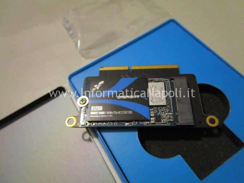 Upgrade ssd apple MacBook Pro 13 2016 | 2017 A1708 NVMe m.2 PCIe sabrent 512GB 1TB 2TB