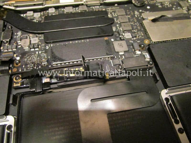 disattivazione batteria Upgrade ssd MacBook Pro 13 2016 | 2017 A1708 NVMe m.2 PCIe
