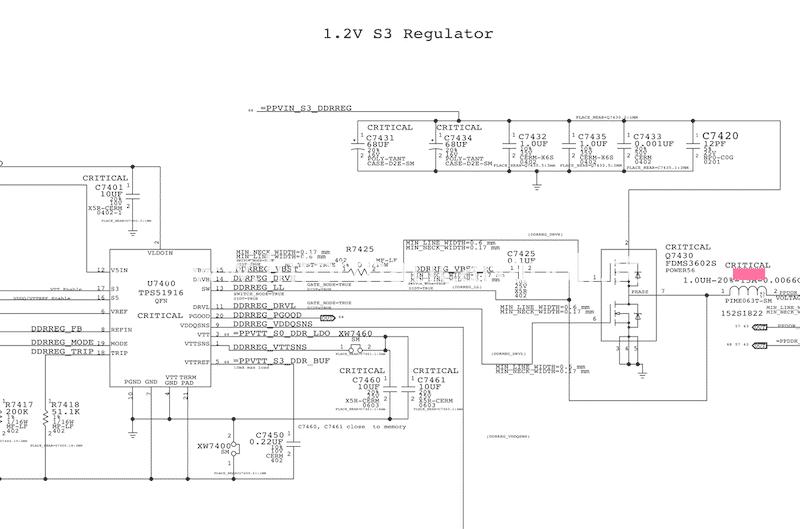 assistenza riparazioni MacBook Pro 13 A1502 non si accende guasto scheda madre motherboard 820-4924-A circuito regolatore 1.2 S3