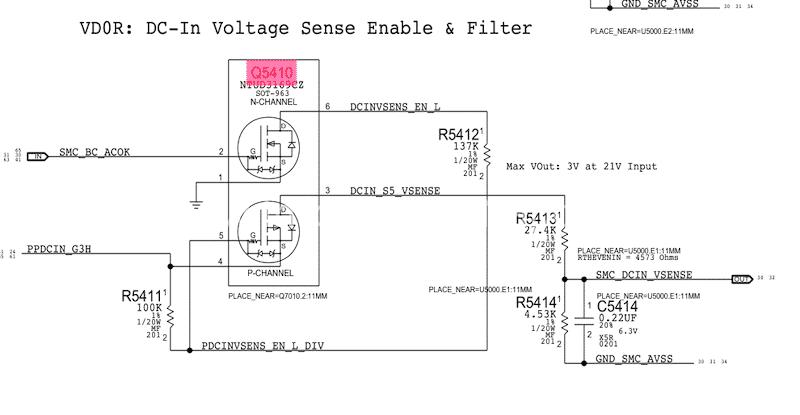 DC-In Voltage Sense Enable e Filter
