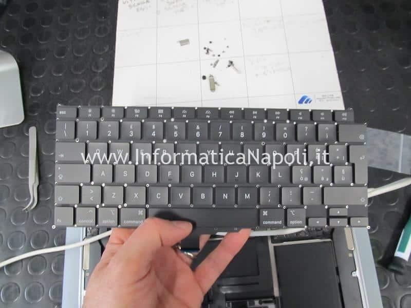 come sostituire tastiera Apple MacBook Air retina 13 2020 A2179 MacBookAir 9,1 danni liquido