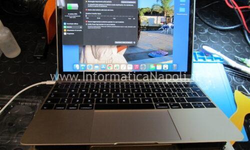 Riparazione MacBook 12 A1534 con danni da liquido