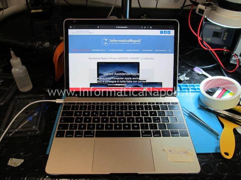 macbook 12 a1534 con danni da liquido riparato funzionante