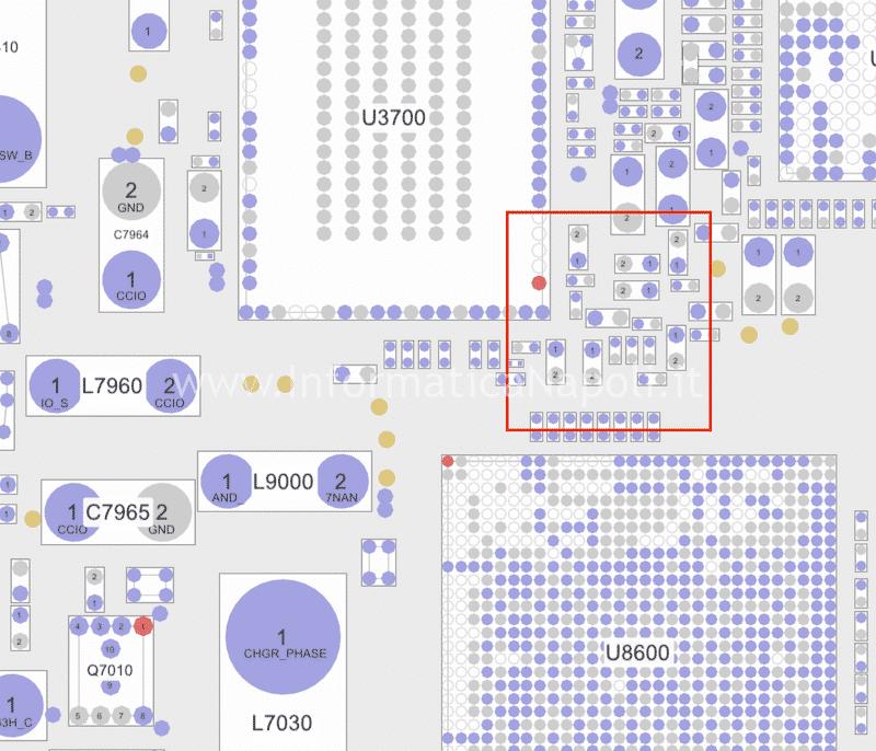schema elettrico MacBook 12 A1534 problemi ricarica batteria circuito alimentazione