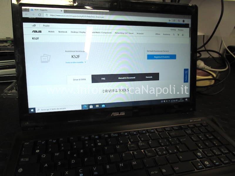 immagine webcam rovesciata asus