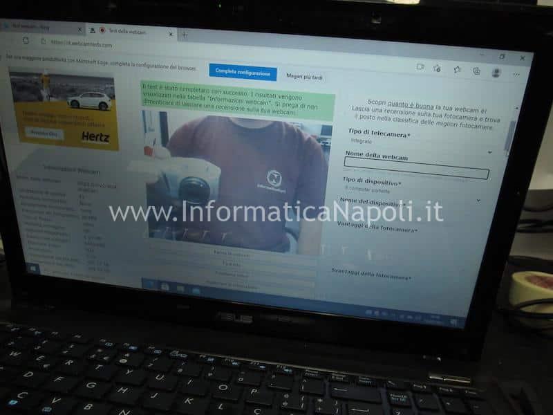 immagine webcam rovesciata risolta riparata asus
