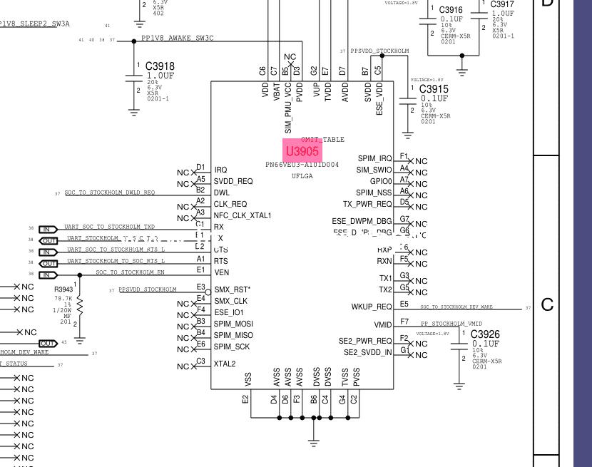 riparazione macbook pro 15 a1707 Apple pay NFC Chip U3905