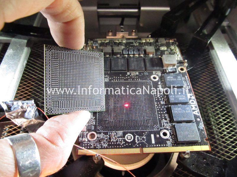 reballing rework sostituzione chip scheda video AMD HD 7970M Dell Alienware M17x R4 P11E