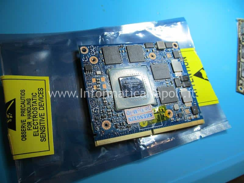 installazione e sostituzione scheda video nuova iMac A1311 21.5 2009 2010 2011