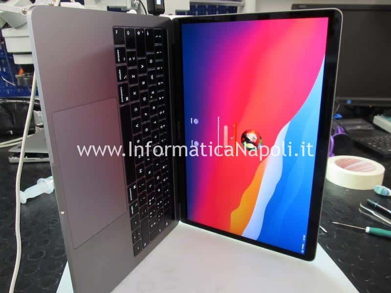 MacBook Pro 2019 modello 2 porte Thunderbolt 3 A2159 820-01598-A con danni da liquido riparato funzionante