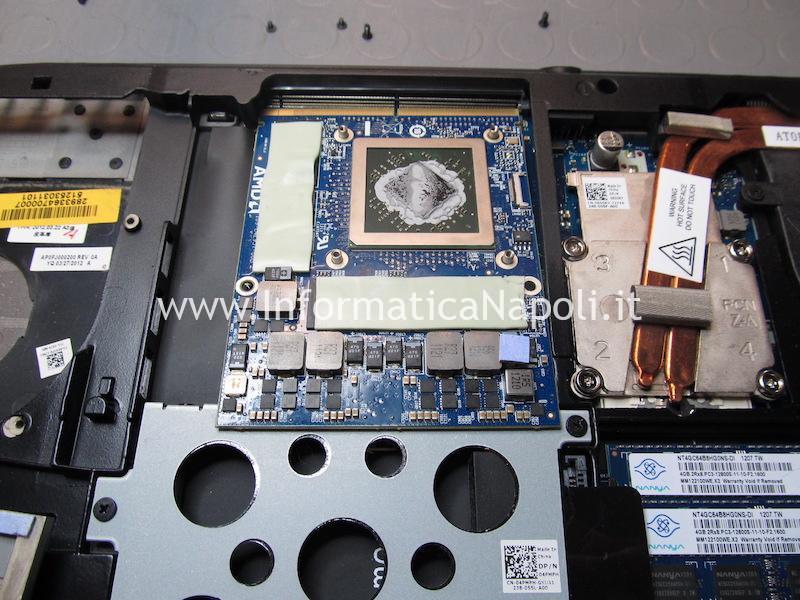 Problema accensione reballing scheda video AMD HD 7970M Dell Alienware M17x R4 P11E