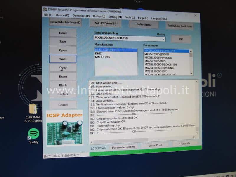 programmazione bios scheda video nVidia quadro 3gb Apple iMac 2009 2010 2011