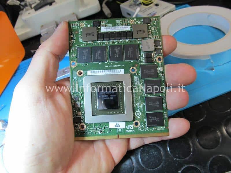 come installare una scheda video nVidia quadro 4gb compatibile per Apple iMac 27 2009 2010 2011