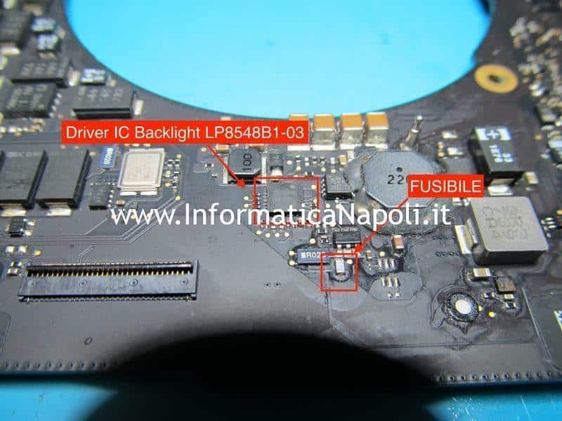 problemi ic backlight driver schermo nero backlight illuminazione macbook pro 15 a1398