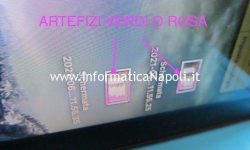 Artefizi e righe di colore verde o rosa su schermo Apple MacBook Pro 15 | 17 2009-2012
