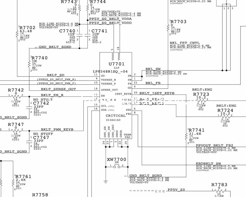 U7701 LP85461SQ-04 backlight macbook